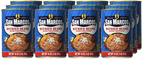 Amazon.com : San Marcos Beans With Chilpotle, 16 Ounce (Pack of 12) : Pinto Beans Produce : Grocery & Gourmet Food