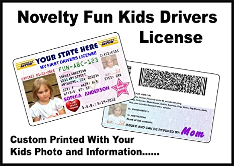 License Products Your Drivers Office com Novelty Card - For Information Amazon And Pretend With Kids Photo Custom Girls