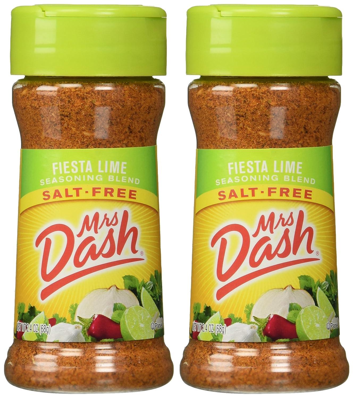 Mrs. Dash Fiesta Lime All Natural Seasoning Blend 2.4 oz (2 Pack)