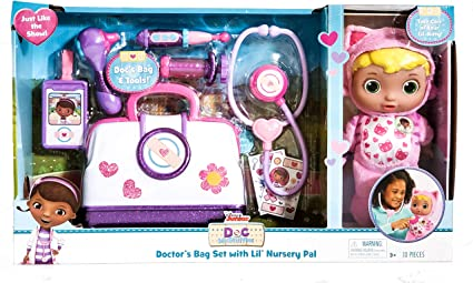 Doc McStuffins Hair Brush Comb Necklace Toy Imaginative Stocking Party Filler x1