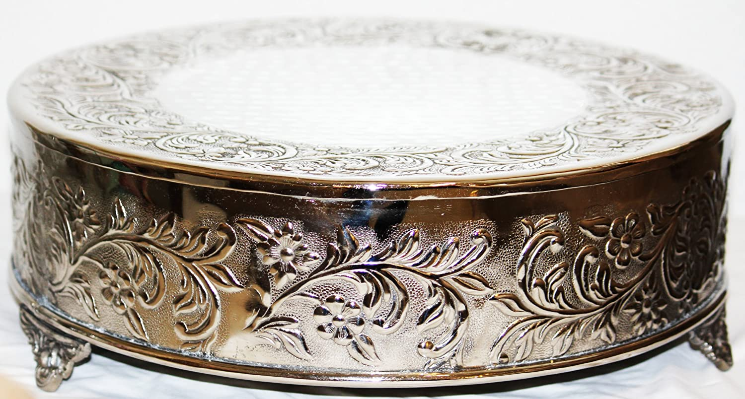 Superior Amazon.com | 14 Inch Silver Round Wedding Cake Stand Plateau: Other  Products: Cake Stands Ideas
