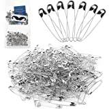 Mr. Pen Silver Safety Pins, 2.1 Inches, Pack of 200