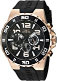 Invicta Men's 'Pro Diver' Quartz Stainless Steel and Polyurethane Casual Watch, Color:Black (Model: 24672)