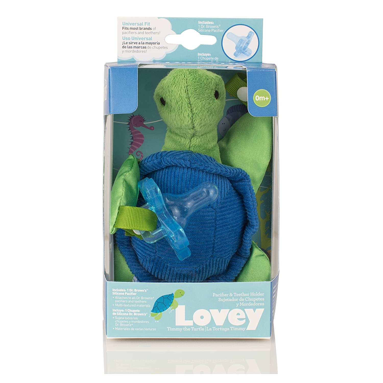 Dr. Browns Lovey Pacifier and Teether Holder - Timmy the ...