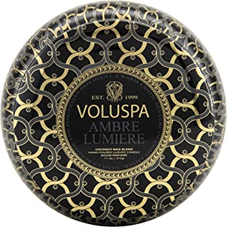 product image for Voluspa Ambre Lumiere 2 Wick Maison Tin Candle, 11 Ounces