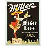 """Miller Server Tin Sign 10.5""""W x 16""""H"""