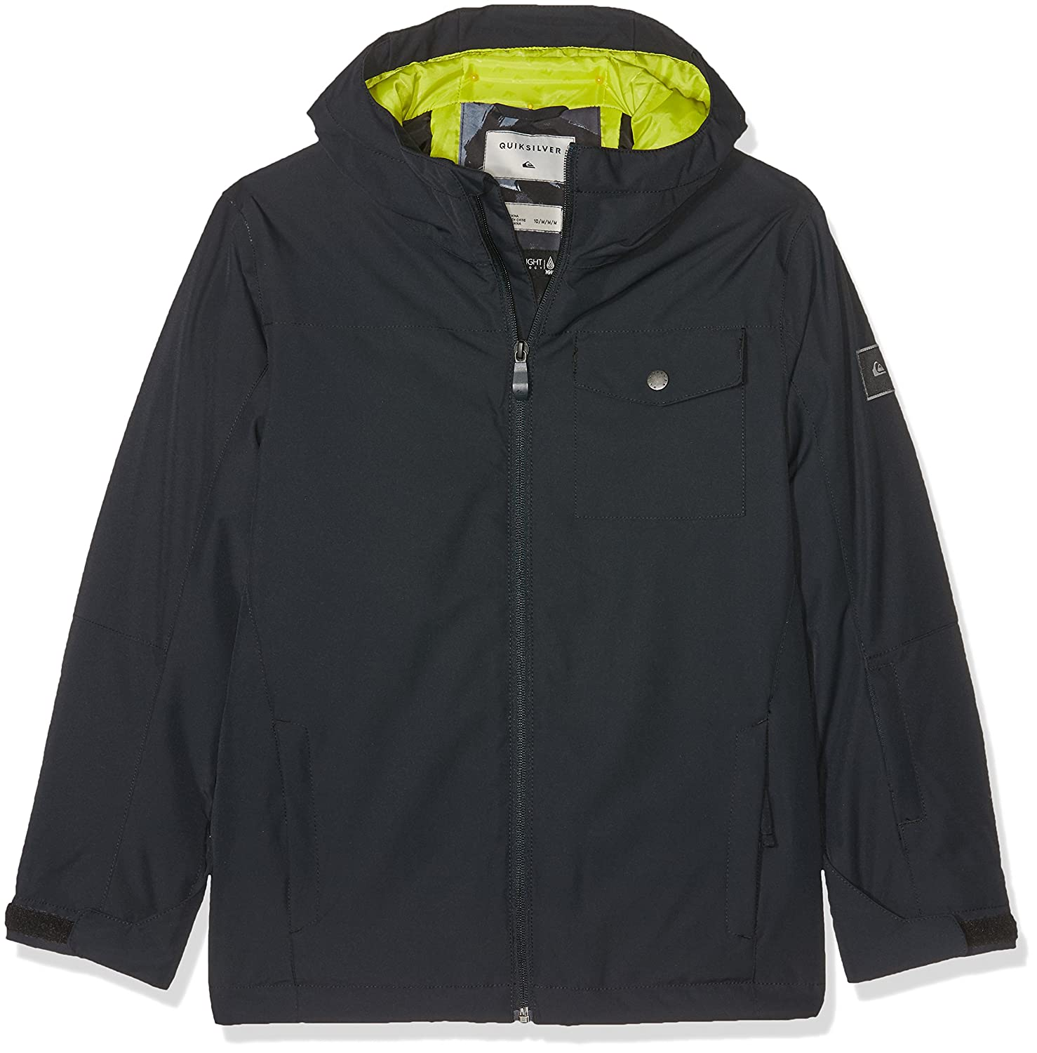 Amazon.com : Quiksilver Snow Jackets Mission Solid Youth Snow Jacket - Black : Sports & Outdoors