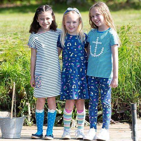 Navy Organic Kite Girls Land Ahoy Leggings 3-11 Years