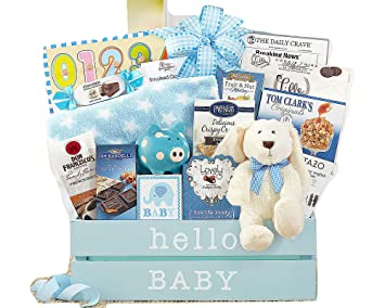 7ab9411a0a67 Welcome Home Baby Boy Newborn Gift Basket  Amazon.com  Grocery ...
