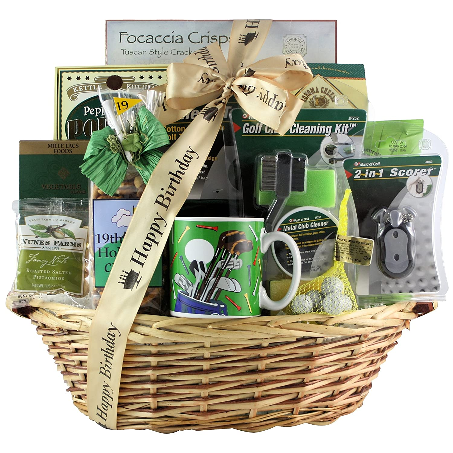 Amazon GreatArrivals Gift Baskets Golfers Delight Birthday Golf Basket 6 Pound Grocery Gourmet Food