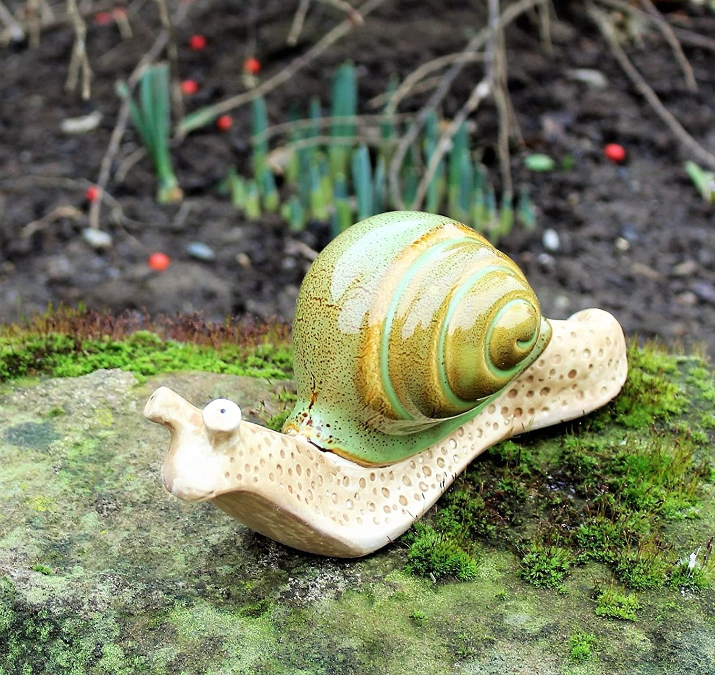 Caracoles decoraciones de jardín patio Animal caracol de cerámica Interior y Exterior para casa cabaña ®, verde: Amazon.es: Jardín
