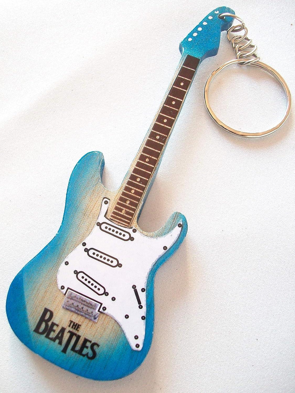 Llavero de madera forma de guitarra eléctrica The Beatles ...