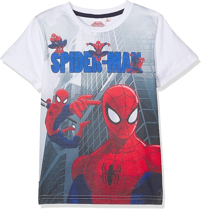 Uomo Ragno Spiderman Maglietta a Maniche Corta Ragazzi
