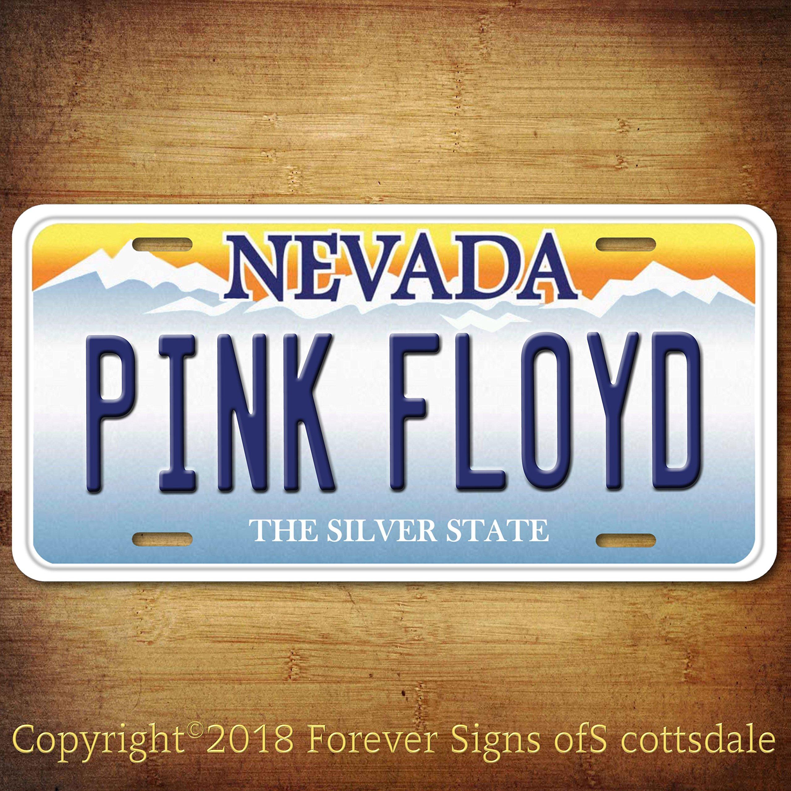 Pink Floyd Rock Band Nevada Aluminum Vanity License Plate Tag