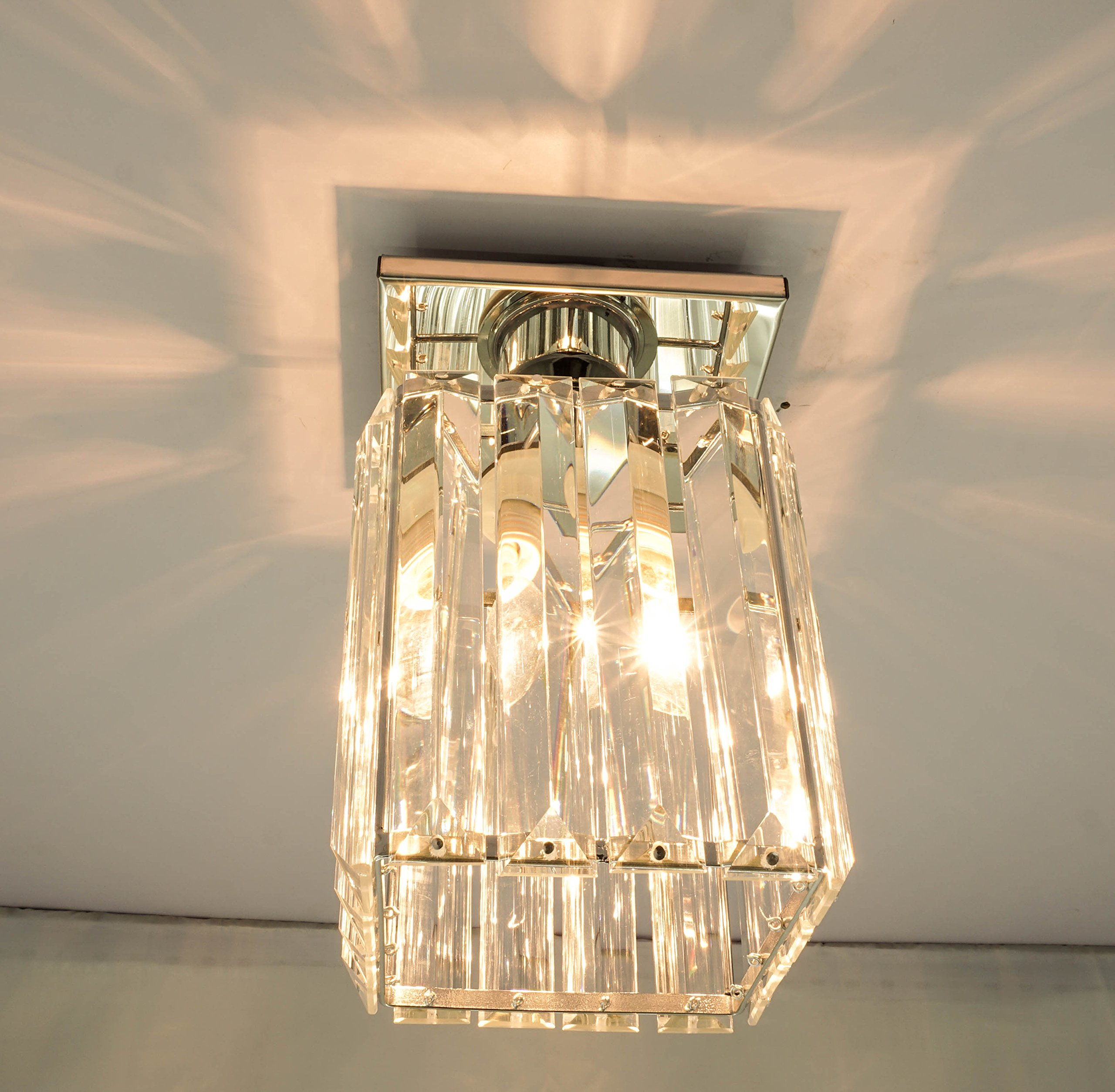 Agnes Lighting Crystal Ceiling Lamp, Chandelier, 1 Light, W5.12''L5.12 H8.27'' by Agnes Lighting (Image #2)