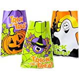 Assorted Halloween Theme Trick Or Treat Drawstring Goody Bags (36)