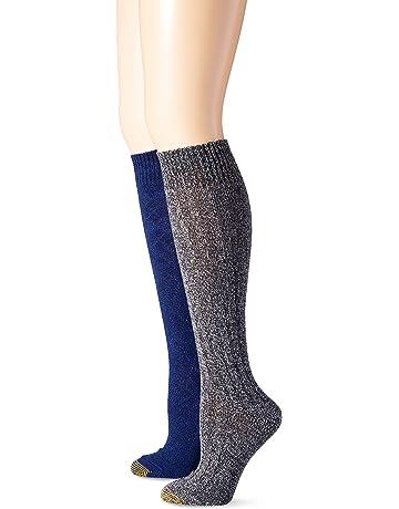 5c05f4fe279ee Gold Toe Women's Argyle Wool Texture Knee High Dress Socks (Pack of ...