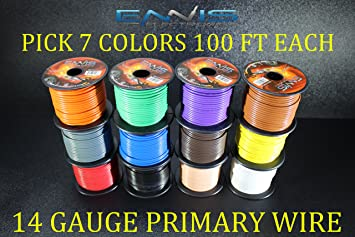 10 GAUGE WIRE 10 FT ENNIS ELECTRONICS 5 RED 5 BLACK PRIMARY AWG COPPER CLAD