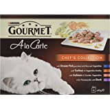 Gourmet A la Carte Cat Food Chef's Collection, 8 x 85 g - Pack of 5 (Total 40 Pouches)