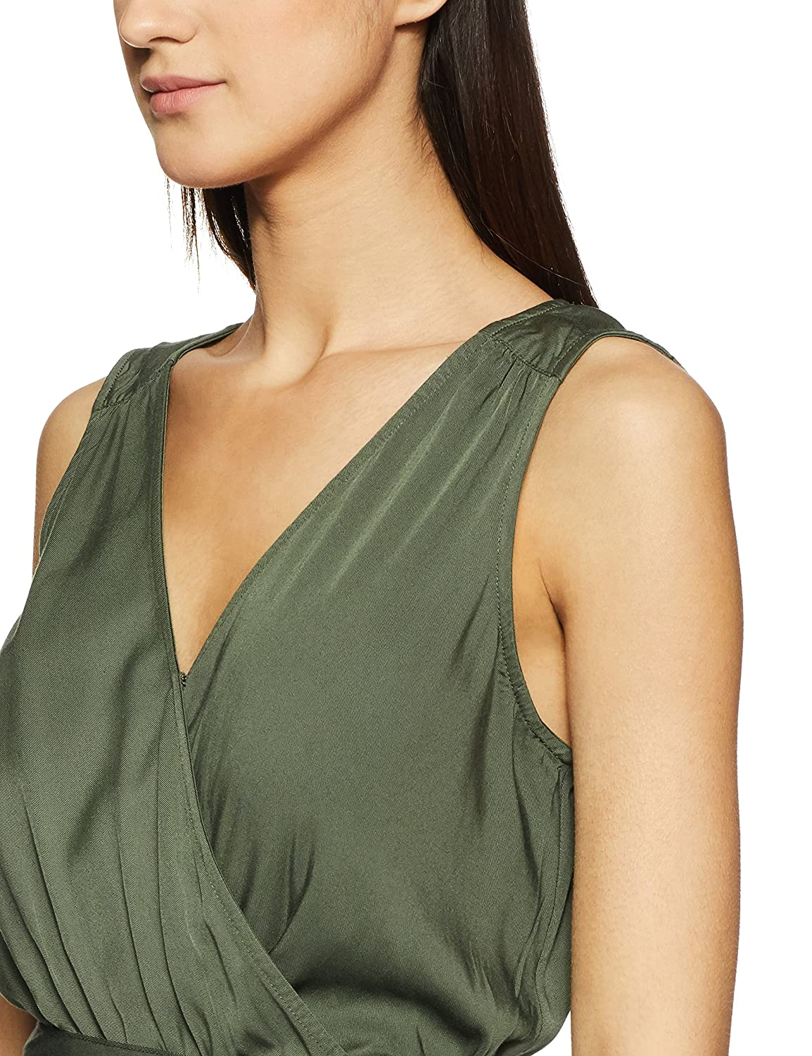 82740cf094a GAP Women s Sleeveless Wrap Jumpsuit in Modal  Amazon.in  Clothing    Accessories