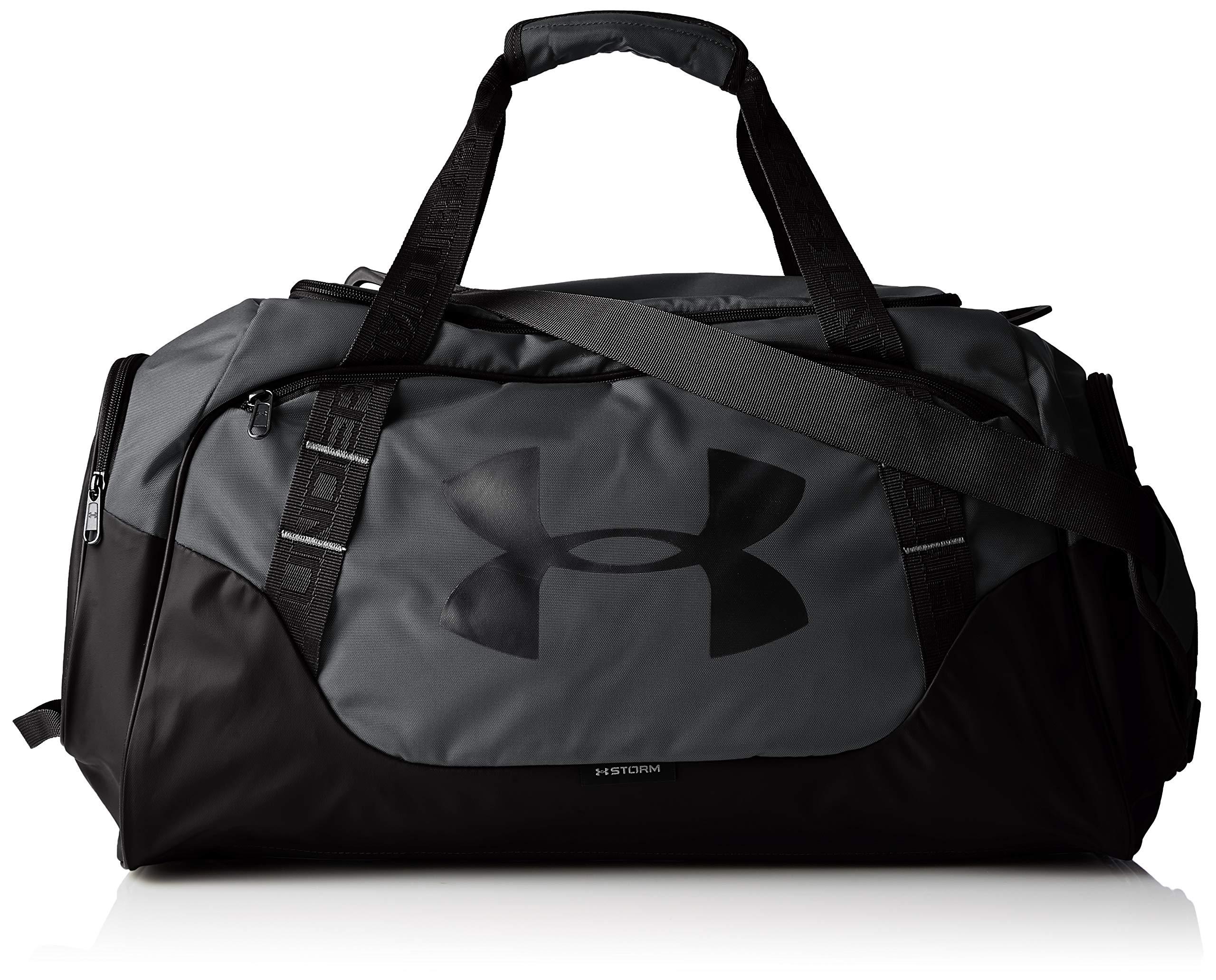 Under Armour Undeniable Duffle 3.0 Gym Bag, Graphite (040)/Black, Medium by Under Armour