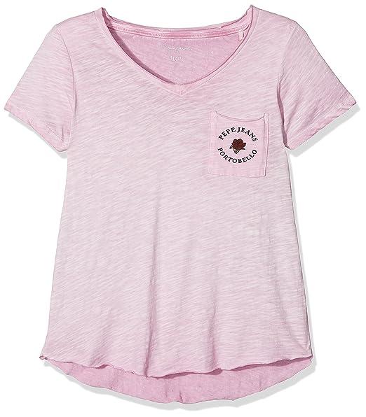0c2597e9d Pepe Jeans YUI Teen PG501360, Camiseta para Niñas, Morado (Mauve 401 ...