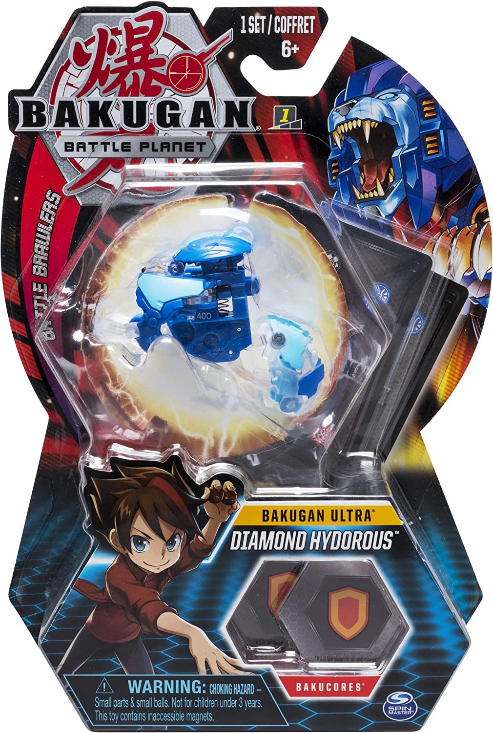 Bakugan Ultra, Diamond Hydorous, 3-inch Tall Collectible Transforming Creature, for Ages 6 and Up