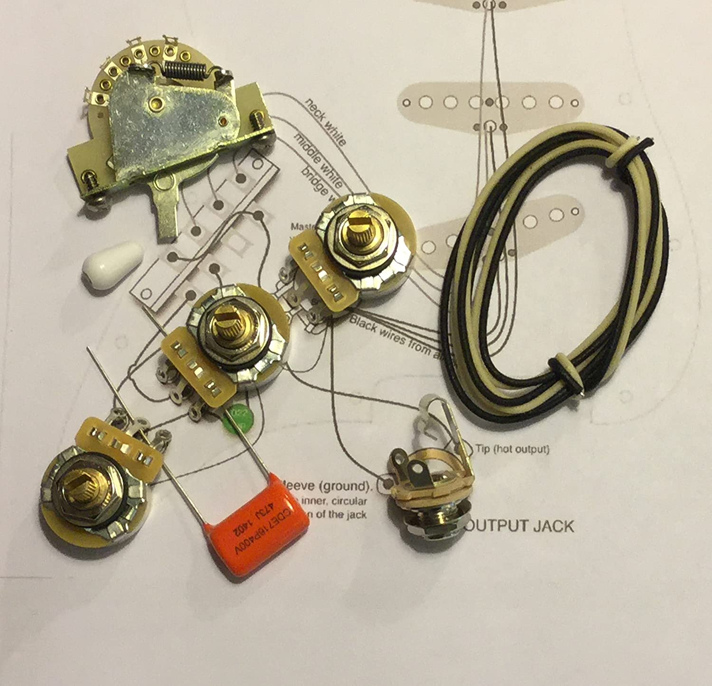 Amazon.com: Fender Strat .022 Wiring Kit w/CRL 5-way Switch ... on