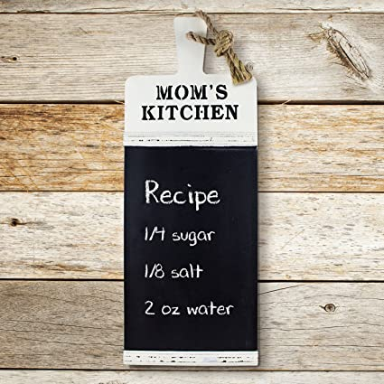 American Art Décor Momu0027s Kitchen Rustic Chalkboard Wall Message Board    Farmhouse Décor