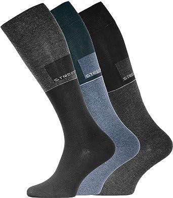 3 o 6 pares de medias para hombre hasta la rodilla, algodón con elastano, sin goma: Amazon.es: Ropa y accesorios
