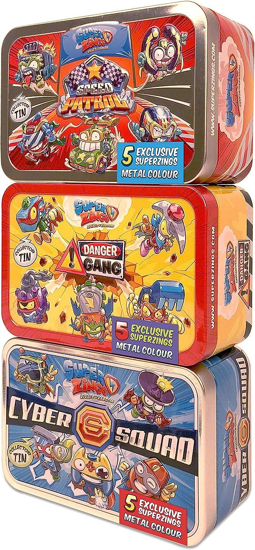 SuperZings Rivals of Kaboom - Pack de 3 Latas (PSZSV123IN00) con 5 Figuras Cada Una, Colección completa