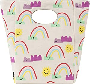 Fluf Canvas Lunch Bag | Lunch Box for Men, Women, Kids | Organic Cotton Meal Tote with Built-In Handle | Rainbows
