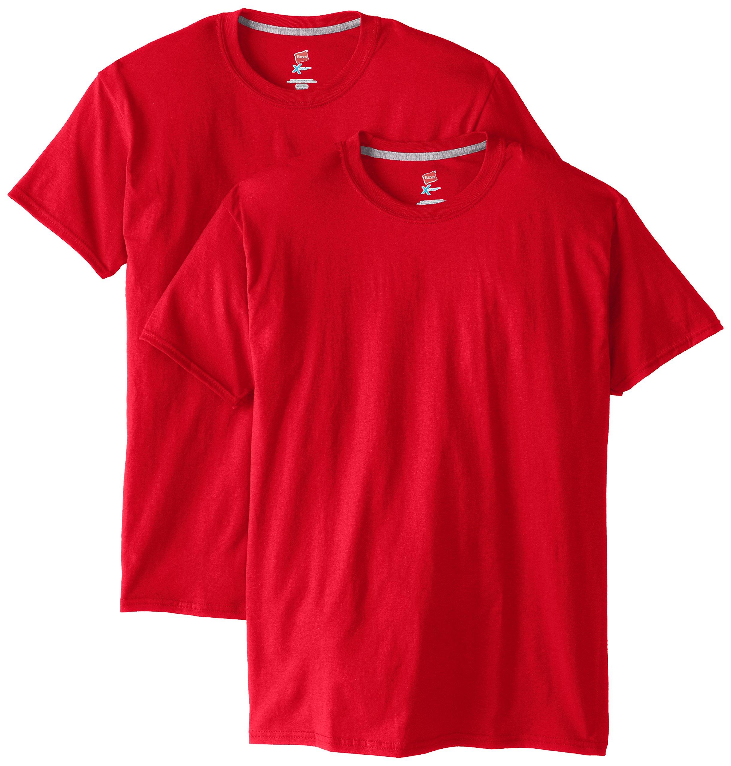 Hanes Men's 2 Pack X-Temp Performance T-Shirt, Deep Red, 3X-Large