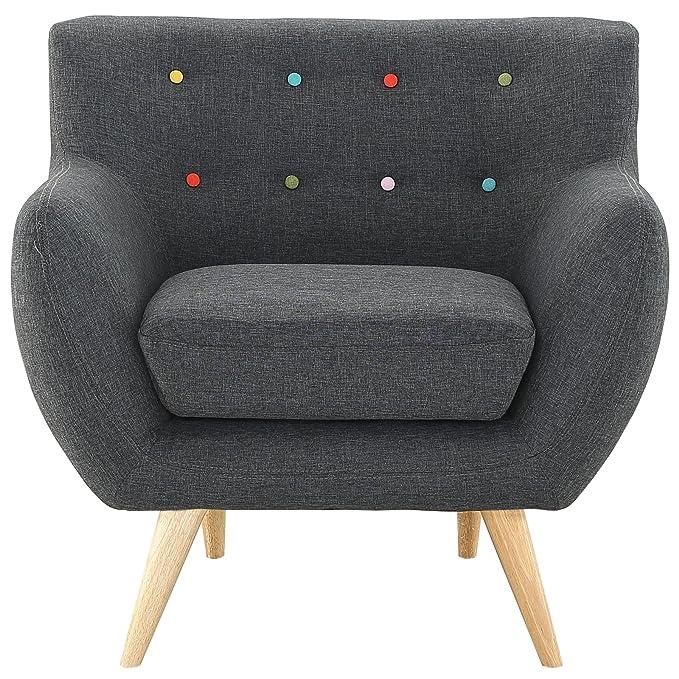 Amazon.com: Moderno y Contemporáneo Sillón, gris tela ...