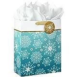 Hallmark 超大圣诞礼物袋带纸巾(无偷窥) 雪花 Snowflakes, Extra Large 5XGB2838