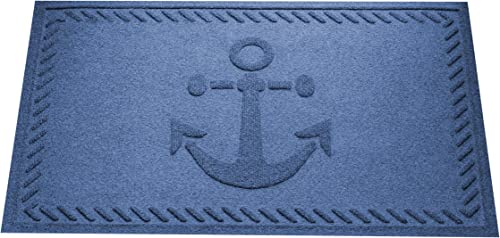 AquaShield Ship s Anchor Mat, 2 by 3-Feet, Navy