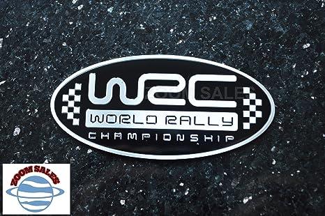 ZOOM – Insignia de coche para campeonato de WRC World Rally Negro – Insignia de aluminio