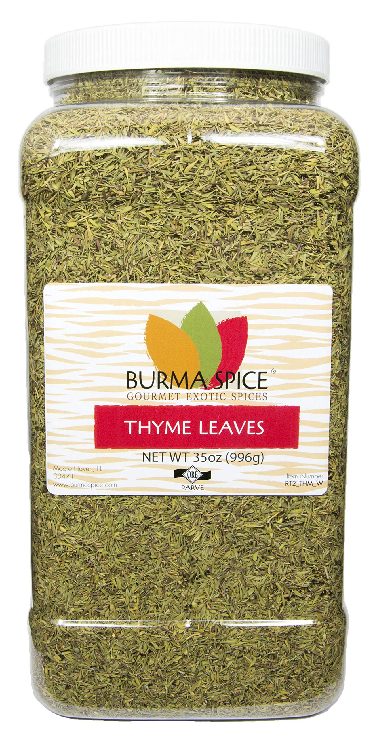 Thyme Leaves : Dried Herb, Spice, Seasoning : Kosher (35oz.)