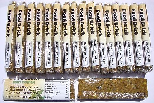 Amazon Com Food Bricks 18 Pack Live Active Organic Bars Mint