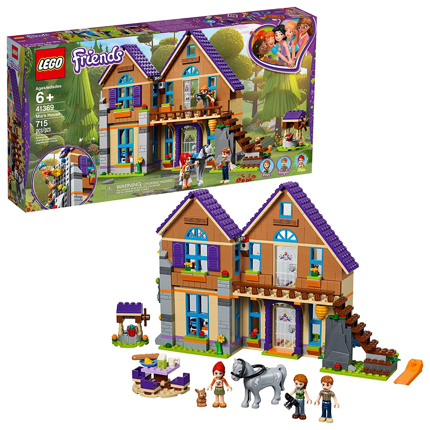 LEGO Friends Mia's House 41369 Building Kit , New 2019 (715 Piece)