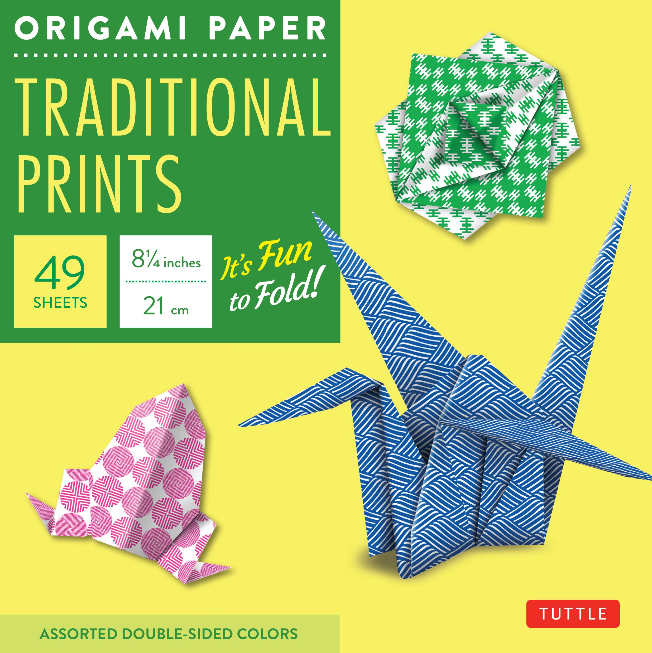 Origami Paper - Traditional Prints - 8 1/4-49 Sheets: Tuttle Origami Paper: High-Quality Large Origami Sheets Printed with 6 Different Patterns: Instructions for 6 Projects Included