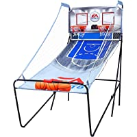 EA Sports Indoor Home Dual Shot 2 Player Arcade Basketball Game with LED Scoreboard, Basketballs, and Pump