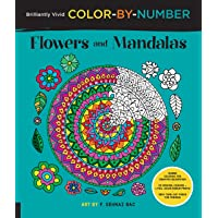 Flowers and Mandalas (Brilliantly Vivid Color-by-Number): Color-coded for creative relaxation