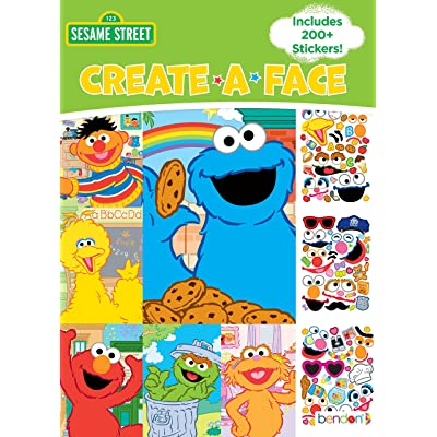 Bendon Create-a-Face Sticker Book, Sesame Street: Toys & Games