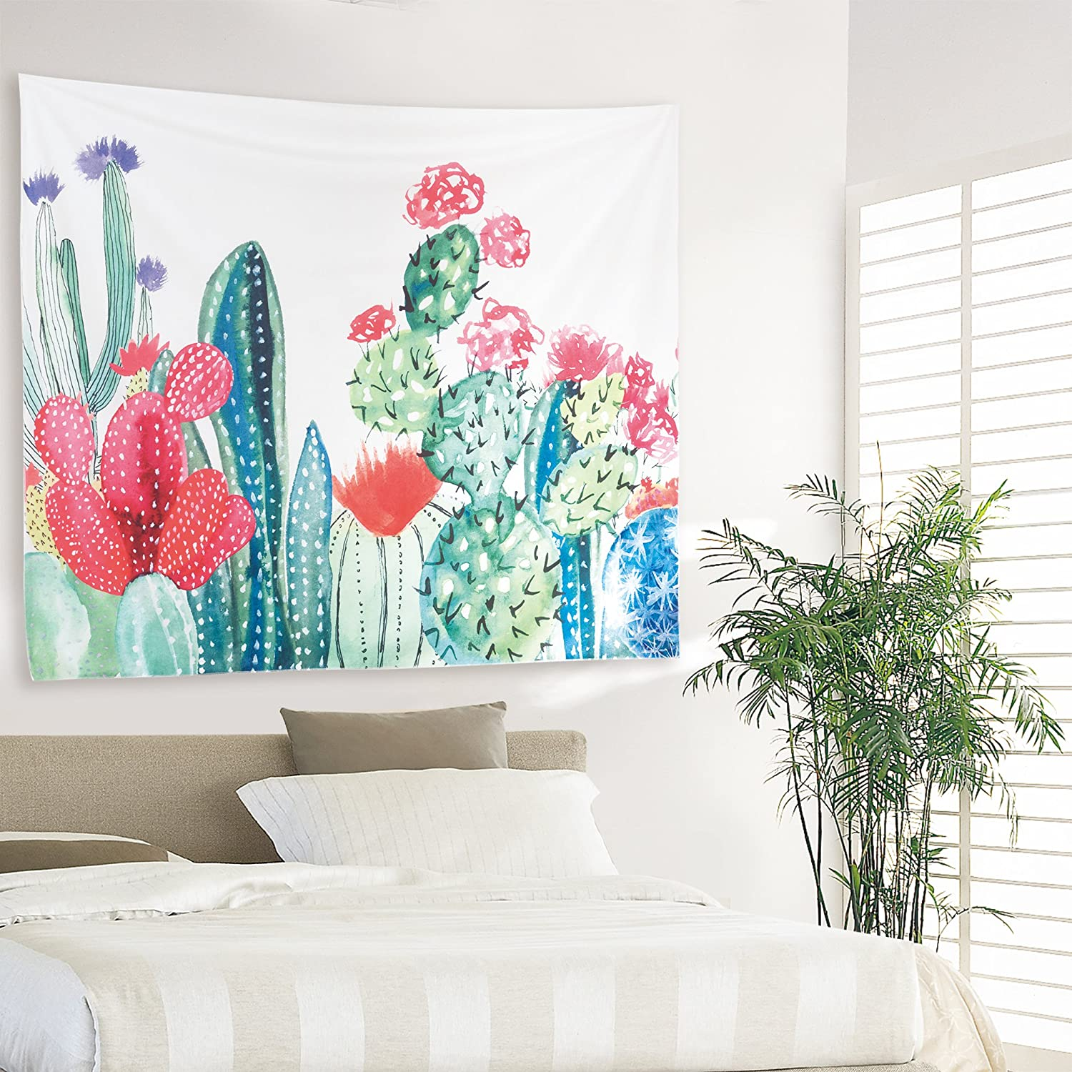 Cactus Tapestry Headboard Home Decor Cactus Wall Hanging