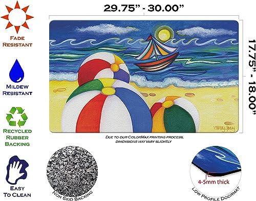 Caroline s Treasures APH0093MAT Frog Drinking Beer Indoor or Outdoor Mat 18×27, 18H X 27W, Multicolor