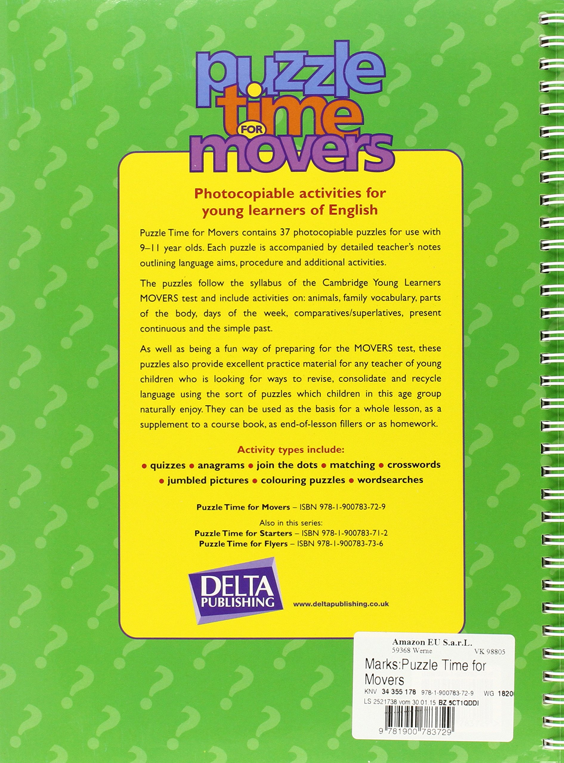 Buy Puzzle Time for Movers - Photocopiable Activities for