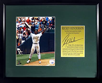 Oakland A s Rickey Henderson  quot Stolen Base King quot  8x10 Photo  Display (SGA Signature ed0c8c069