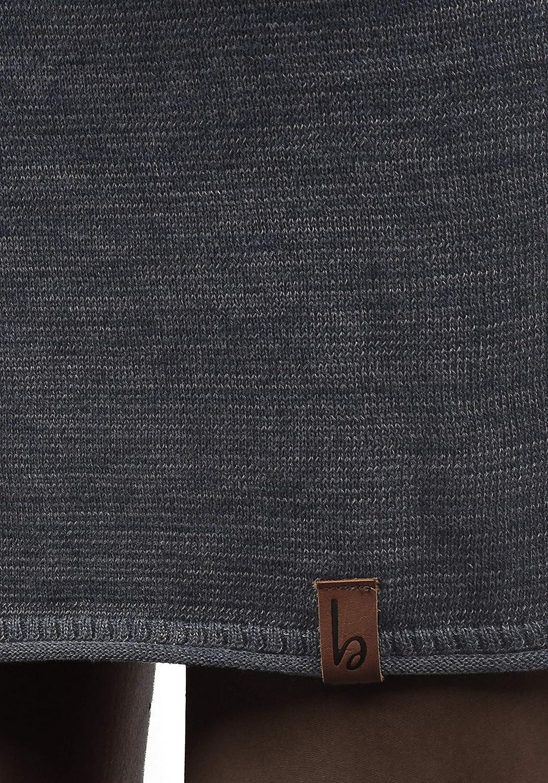 BlendShe Danielle Damen Strickkleid Feinstrick Kleid Mit Rundhals Aus 100/% Baumwolle