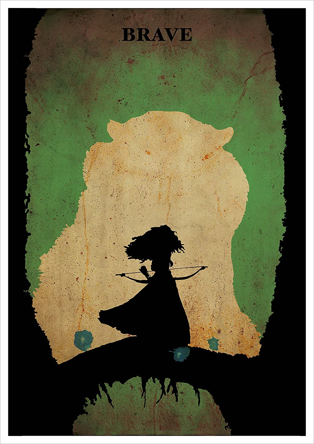 Amazon.com: Brave Minimalist Poster Disney and Pixar Animation ...
